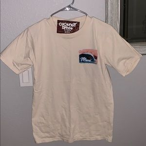Men's coconut dyed crazy shirts T-shirt